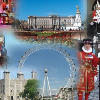 Coach holiday London Montage 500x333